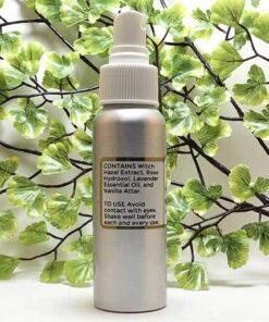 Blessed Botanicals Body Spritzer Lavender & Vanilla Ingredients