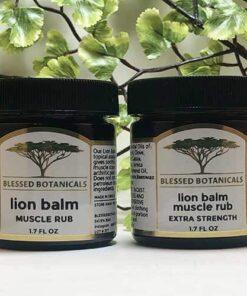Blessed Botanicals Lion Balm Muscle Rrub - Both Jars