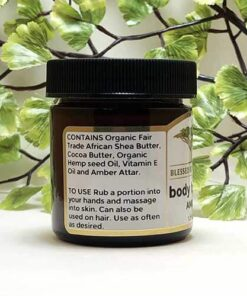 Blessed Botanicals Body Butter Amber Ingredients