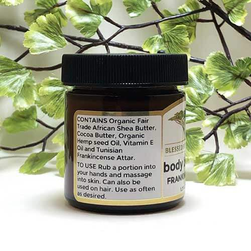 Blessed Botanicals Body Butter Frankincense Ingredients