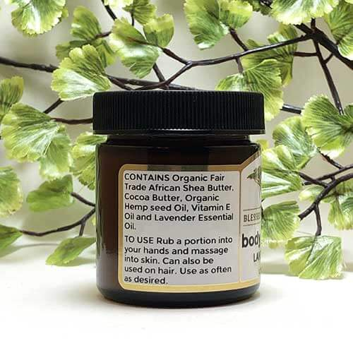 Blessed Botanicals Body Butter Lavender Ingredients
