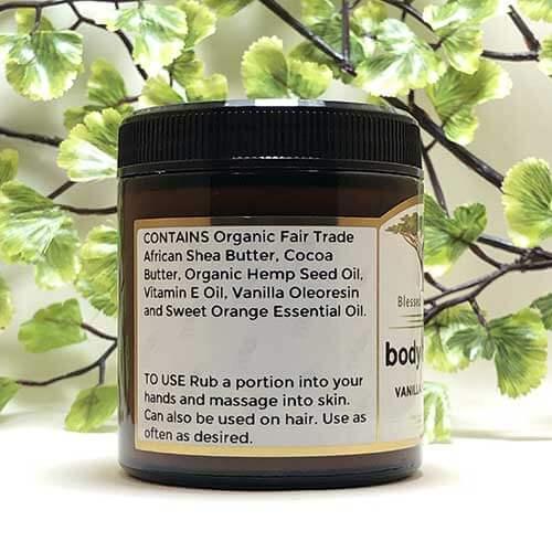 Blessed Botanicals Body Butter Vanilla & Orange - Ingredients