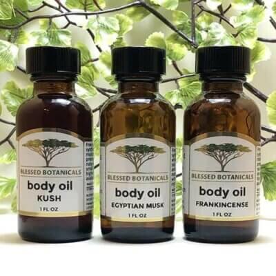 Blessed Botanicals Body Oil All 1 oz Bottles
