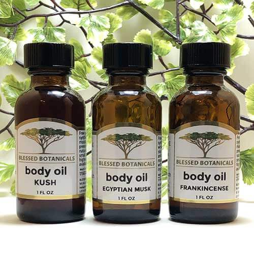Blessed Botanicals Body Oil All 1 oz Bottles