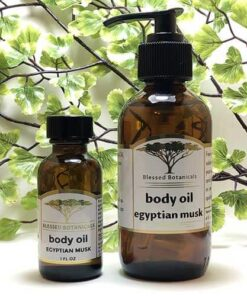 Blessed Botanicals Body Oil Egyptian Musk Both Sizes