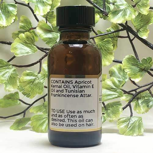 Blessed Botanicals Body Oil - Frankincense Scent - Ingredients