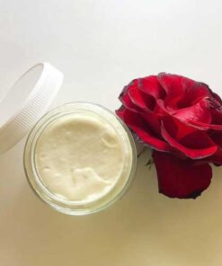 Blessed Botanicals Face Cream Open Container From Above