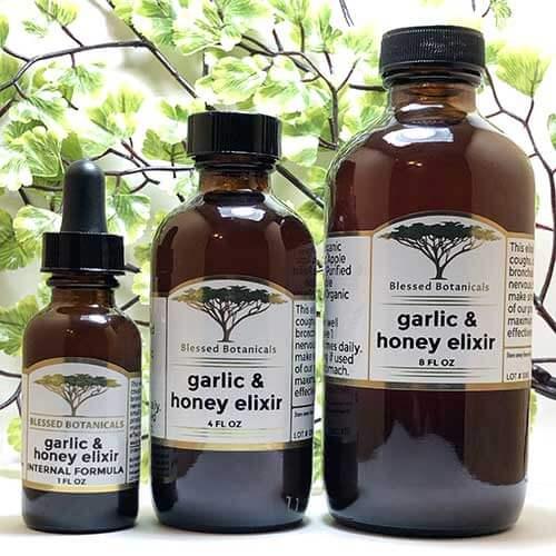 Blessed Botanicals Garlic & Honey Elixir All Sizes