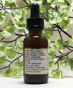 Blessed Botanicals Garlic & Honey Elixir Ingredients