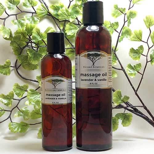 Blessed Botanicals Massage Oil - Both Sizes