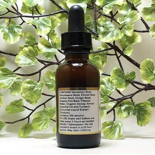 Blessed Botanicals Bittersweet Elixir Herbal Syrup Ingredients
