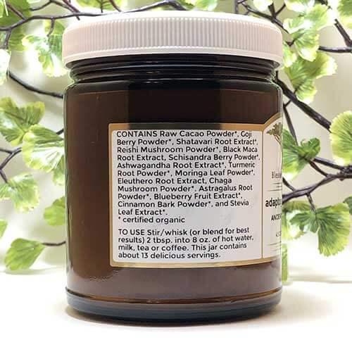 Blessed Botanicals Adaptogenic Cocoa Ingredients