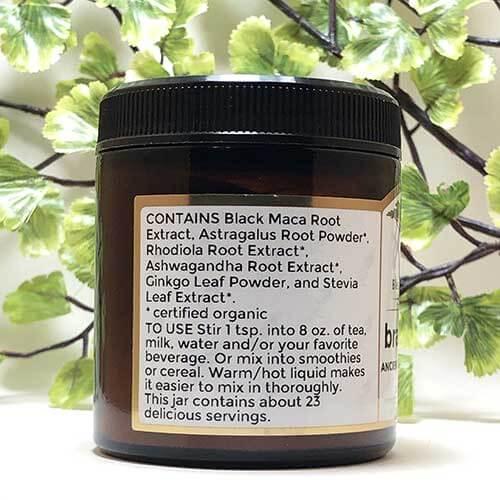 Blessed Botanicals Brain Food Ingredients