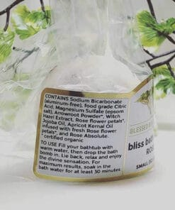 Blessed Botanicals Bliss Bath Bombs Rose - Ingredients